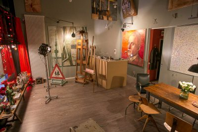 Ein seltener Anblick : EIn aufgeräumtes Atelier