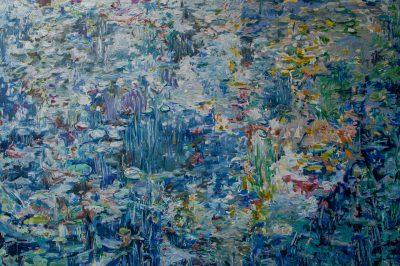 Wasserlilien blau 2,00 x 2,00m